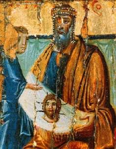 Photon Mandylion King Abgar with image of edessa 10th century