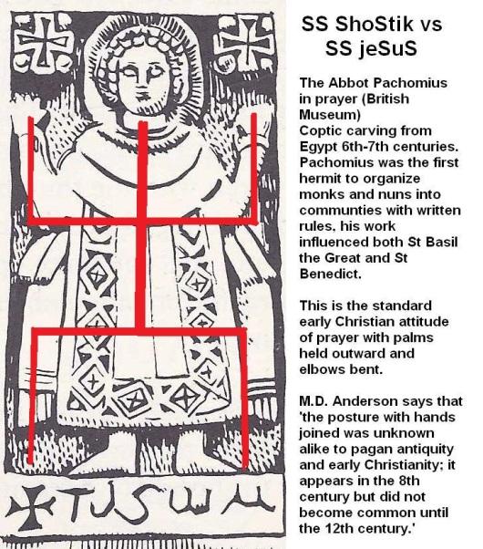 Orans Abbot Pachomius in pagan prayer shostik