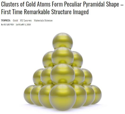 137 tetrahedron clusters SPHERE PACKING gold