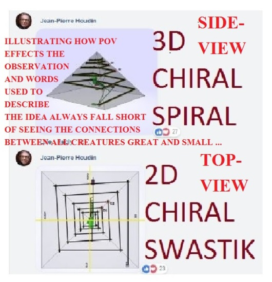 3D chiral spiral Great Pyramid Houdin2