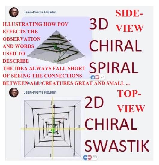 3D chiral spiral Great Pyramid Houdin2