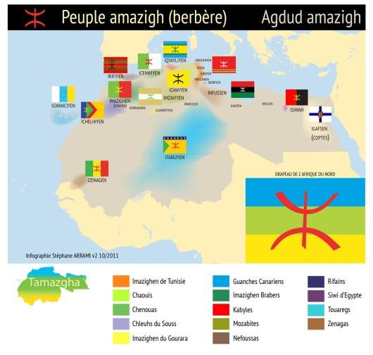 Tamazgha - Carte peuple amazigh