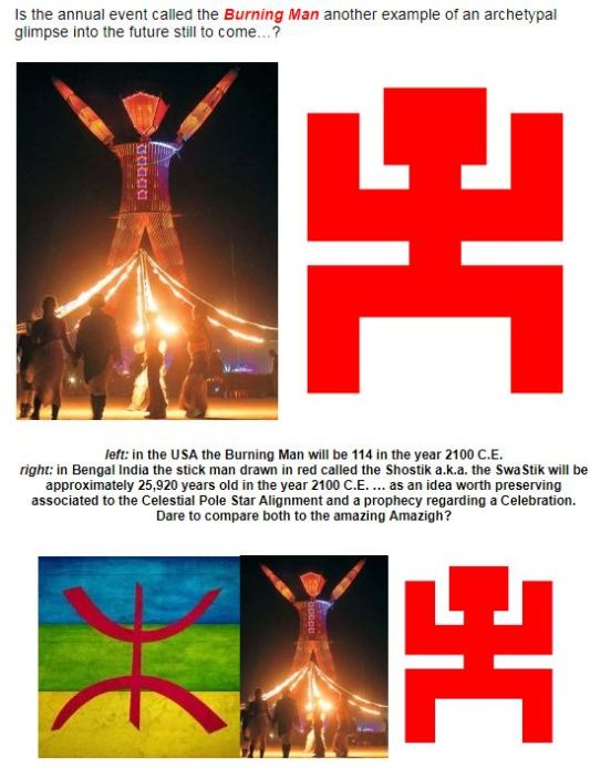 burning man shostik swastik amazigh free man symbol 2100 ce the future