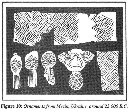 Mezine Chiral Metamaterial Swastika 23,000 BC Slavik Jablan